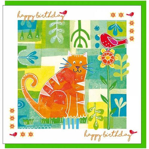 Happy Birthday Cat Christian Greetings Card