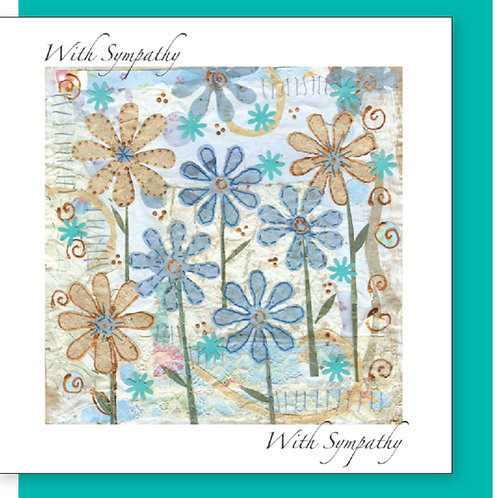 With Sympathy Flowers Christian Greetings Card