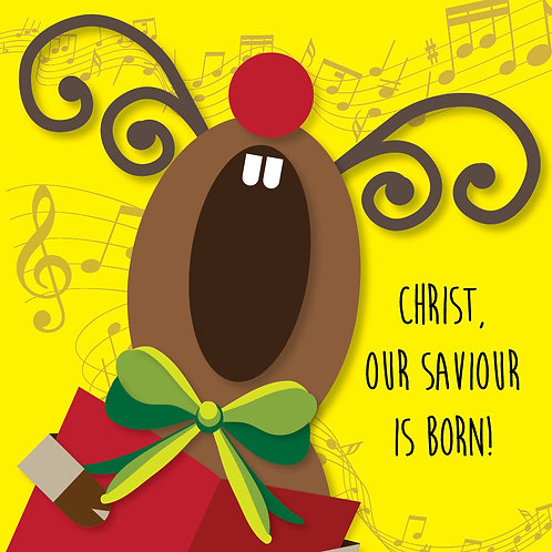 Christ Our Saviour Is Born! Small Christian Christmas Cards