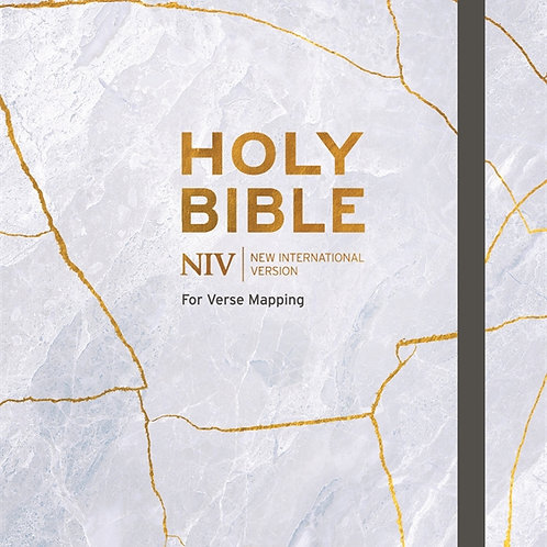 NIV Holy Bible For Journaling and Verse Mapping Hardback Grey Kintsugi Cover