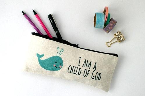 I Am A Child Of God Whale Pencil Case