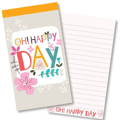 Oh! Happy Day Jotter Notepad