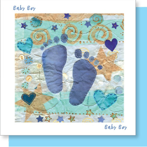 Baby Boy New Baby Christian Greetings Card