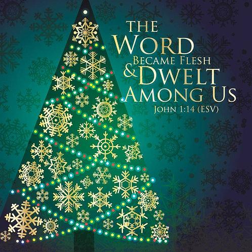 The Word Dwelt Among Us Christian Christmas Cards