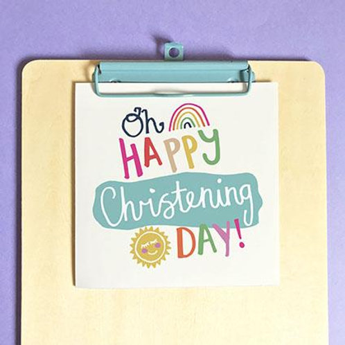 Christening Oh Happy Christening Day! Christian Greetings Card