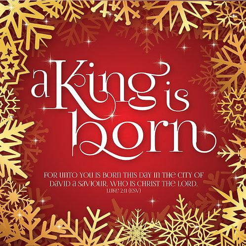 A King Is Born Christian Christmas Cards