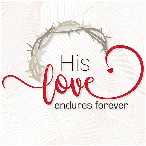 His Love Endures Forever Christian Easter Cards