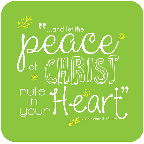 Peace Of Christ Christian Coaster