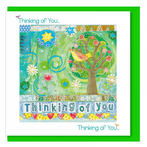 Thinking Of You Tree In the Garden Christian Greetings Card