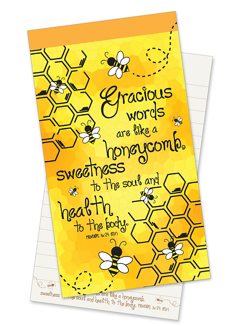 Gracious Words Like Honeycomb Jotter Notepad