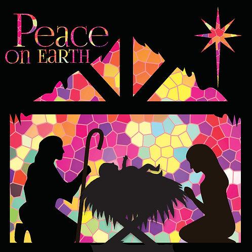 Mosaic Nativity Christian Christmas Cards