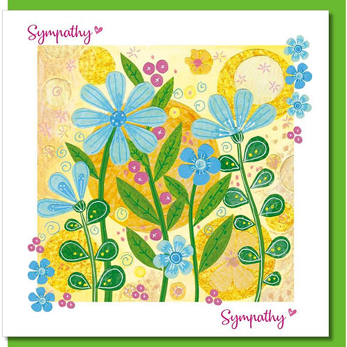 With Sympathy Yellow Flowers Christian Greetings Card