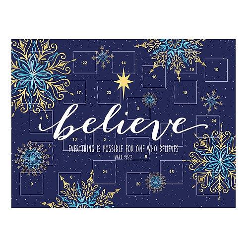 Believe Traditional Card Advent Calendar