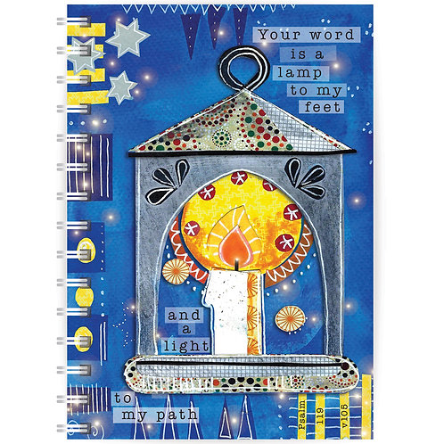 Your Word Is A Lamp A5 Wirebound Christian Notebook
