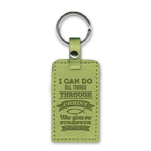 I Can Do All Things LuxLeather Christian Keyring