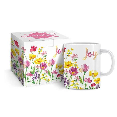Joy Floral Christian Mug in Gift Box