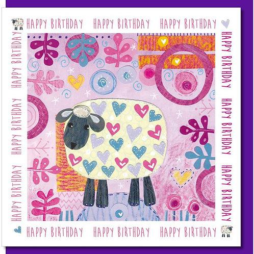Happy Birthday Sheep Christian Greetings Card