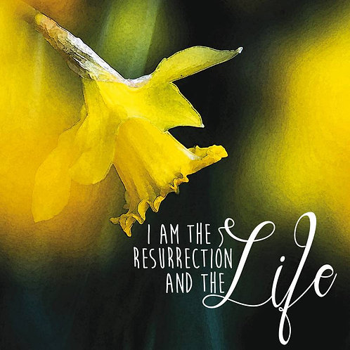 I Am The Resurrection Christian Easter Cards