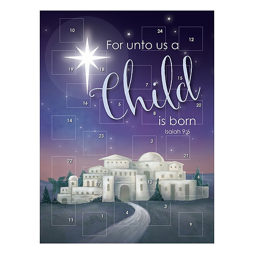 For Unto Us A Child Is Born Traditional Card Advent Calendar