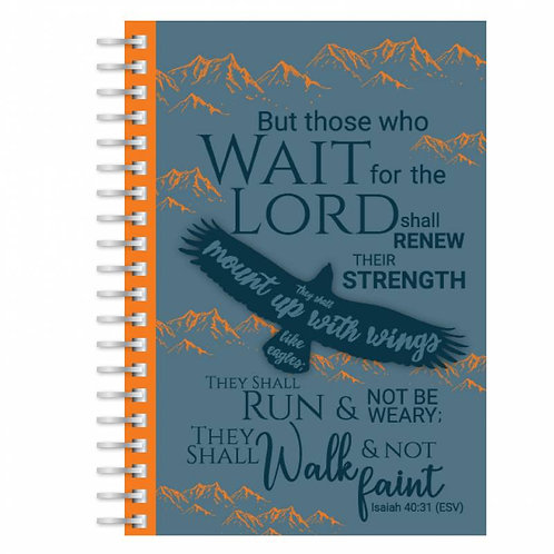 Eagles Wings A5 Wirebound Christian Notebook
