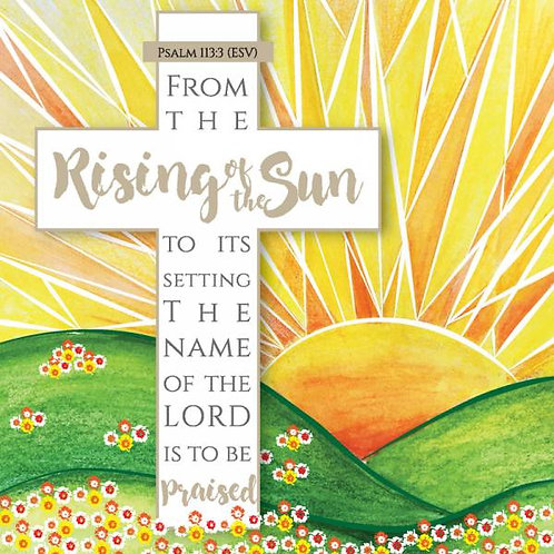 Rising Of The Sun Christian Easter Cards