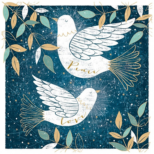 Tearfund Two Doves Christian Charity Christmas Cards