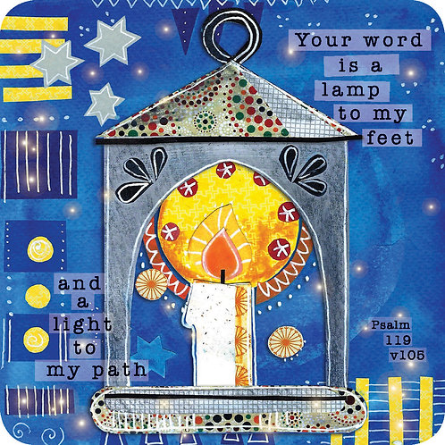 Your Word Is A Lamp Christian Coaster