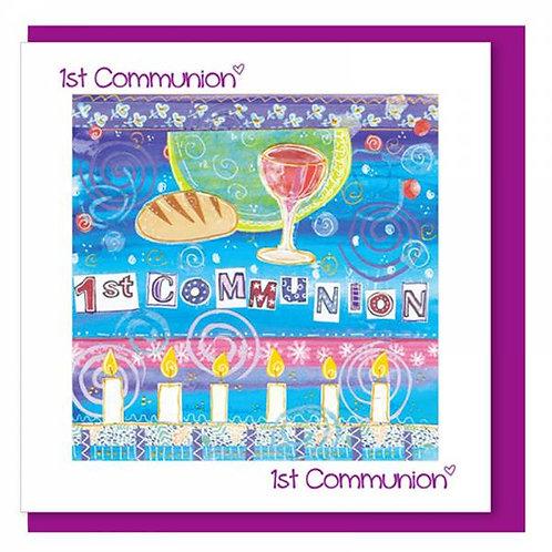 1st Communion Christian Greetings Card