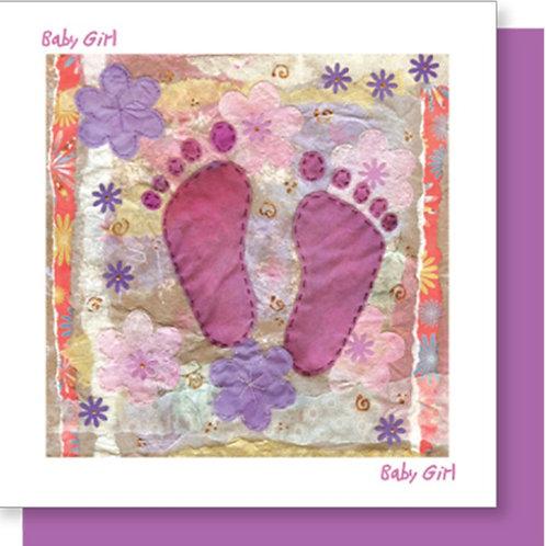 Baby Girl New Baby Christian Greetings Card