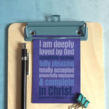 I Am Deeply Loved By God Prayer Card