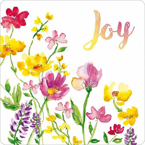 Joy Floral Christian Coaster