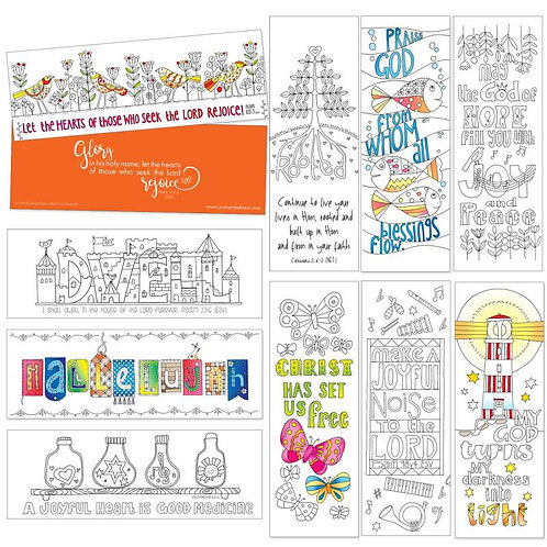Images Of Joy Christian Colouring Bookmarks