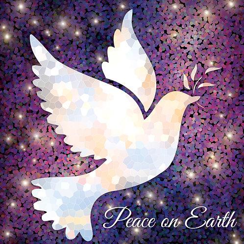 Peace On Earth Dove Christian Christmas Cards