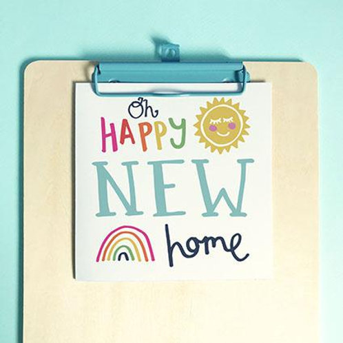New Home Oh Happy New Home Christian Greetings Card
