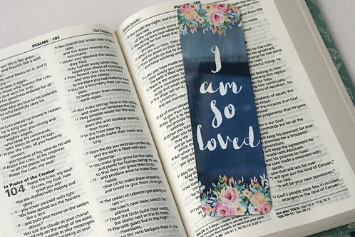 I Am So Loved Mini Metal Bookmark