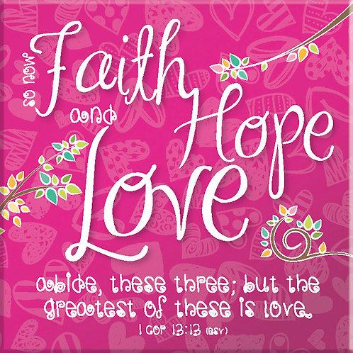 Faith Hope Love Christian Fridge Magnet