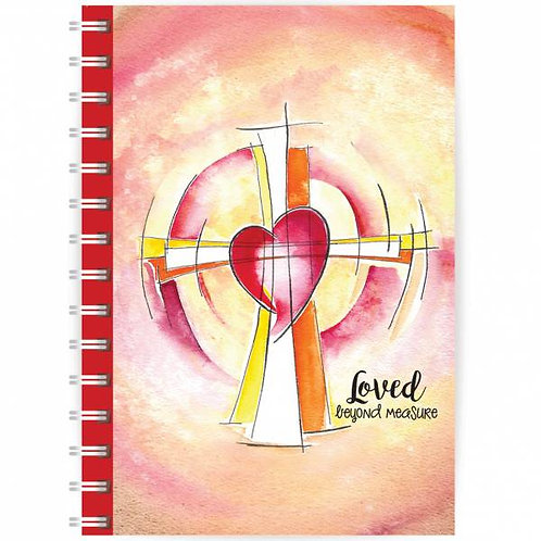 Loved Beyond Measure A5 Wirebound Christian Notebook