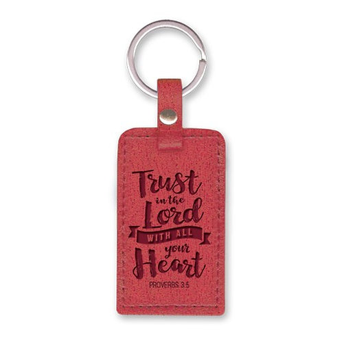 Trust In The Lord LuxLeather Christian Keyring