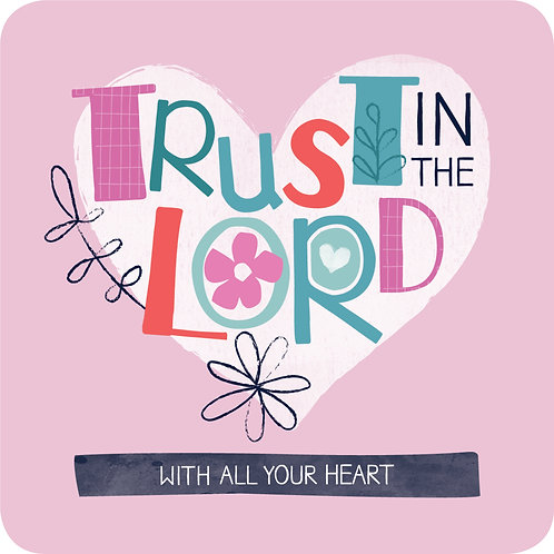 Trust In The Lord Christian Coaster