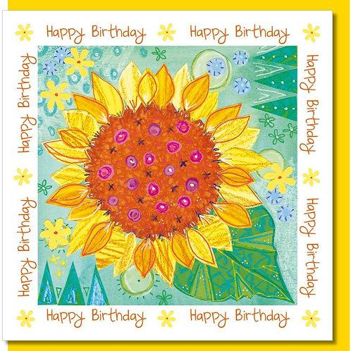 Happy Birthday Sunflower Christian Greetings Card