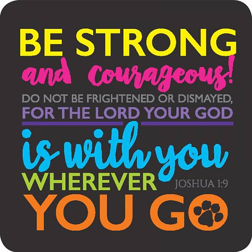 Be Strong Christian Coaster