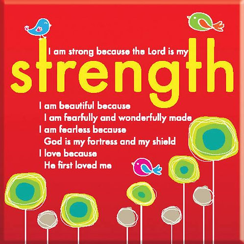 The Lord Is My Strength Christian Fridge Magnet