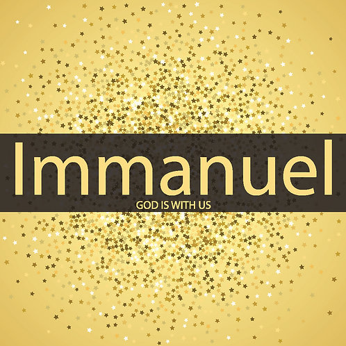 Immanuel Gold Christian Christmas Cards