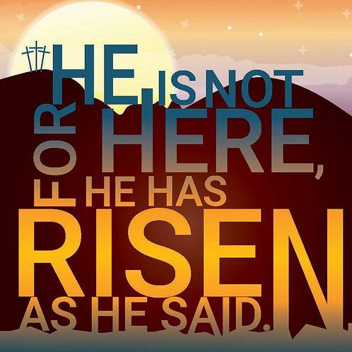 He Has Risen Christian Easter Cards