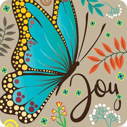 Joy Butterfly Christian Coaster