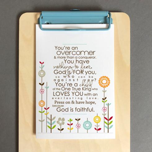 You're An Overcomer Christian Greetings Card