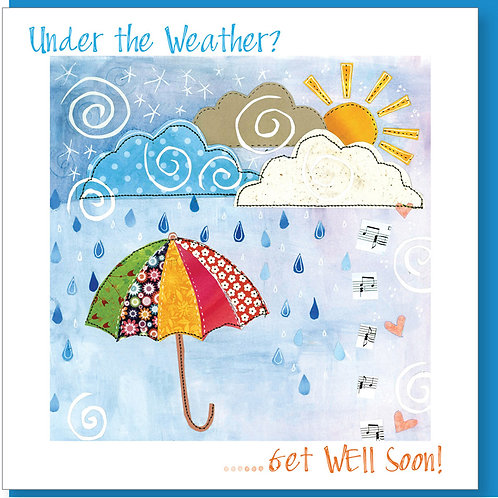 Under The Weather? Get Well Soon Christian Greetings Card