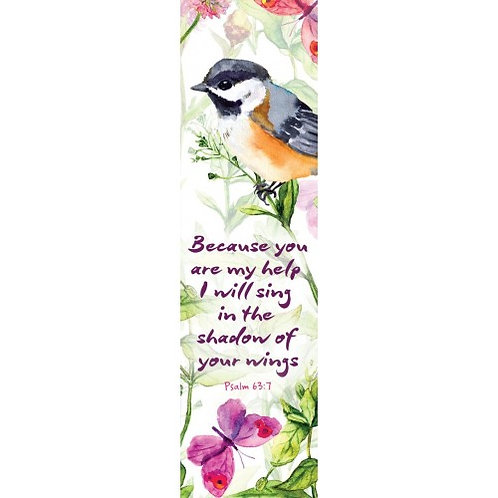 I Will Sing In The Shadow Of Your Wings Christian Bookmark