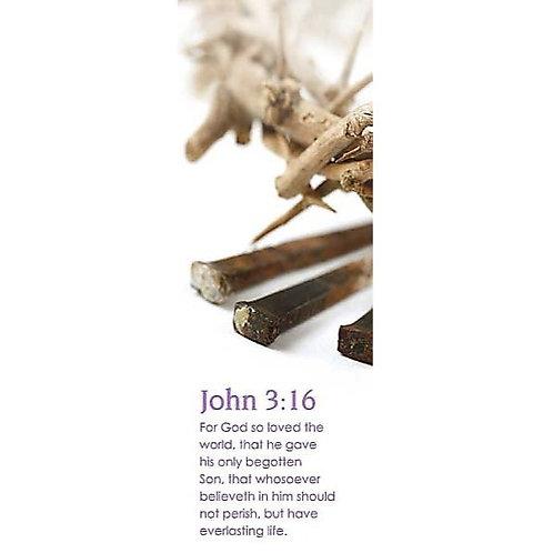 For God So Loved The World John 3:16 Christian Bookmark