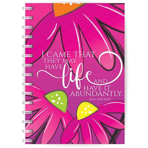 Abundant Life A5 Wirebound Christian Notebook